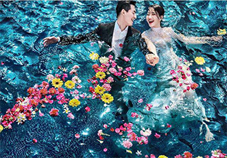 唯一旅拍婚纱摄影朋友圈广告成功案例